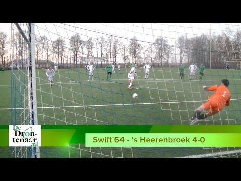 VIDEO | Swift'64 na 4-0 zege op 's Heerenbroek weer een stapje dichter bij de titel