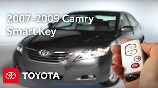 2007 - 2009 Camry How-To: Smart Key - Program Door Unlocking | Toyota
