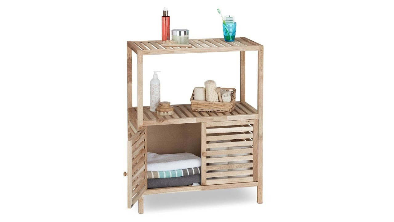 Badschränke Holz badschrank holz in 3 größen kaufen relaxdays de