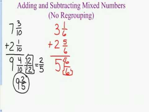 Worksheets An Example Of How To Add Or Subtract Mixed Numbers With Renaming subtracting mixed numbers by renaming ck 12 foundation adding and numbers