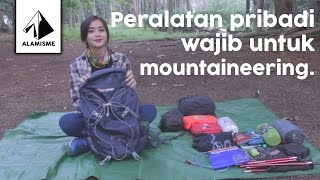 Peralatan pribadi mountaineering untuk wanita