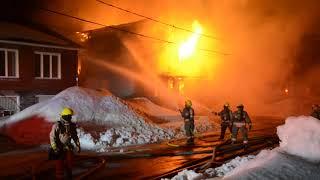 Incendie à Saint-Joseph-de-Sorel 2019/03/11