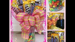 How To Make A Candy Bouquet With M&Ms And Snickers: A Touch Of Sparkle By Monica Tutorial HD