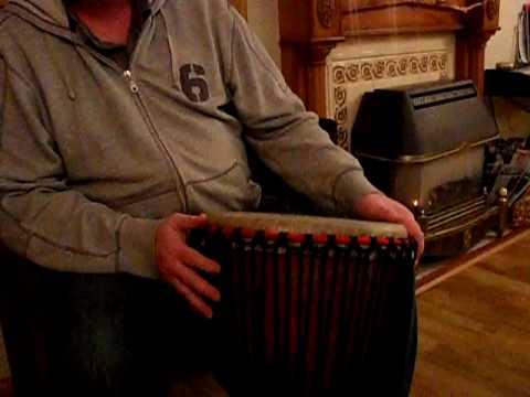 Djembe Drum Demonstration - Pro Africa Ivory Coast - 65cm x 38cm (13