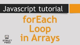 Download Youtube: JavaScript Tutorial 15 - forEach Loop in Arrays