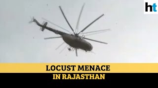 Watch: Helicopter sprays pesticides in Jodhpur to ward off locusts - Download this Video in MP3, M4A, WEBM, MP4, 3GP