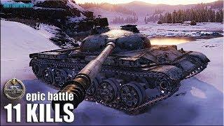 Объект 140 УСТРОИЛ ЭКШОН 🌟 11 ФРАГОВ 🌟 World of Tanks лучший бой на ст