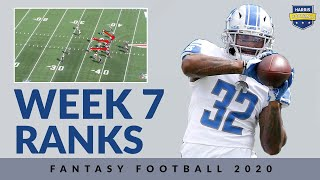 Week 7 Ranks D'andre Swift, Cam Newton, and More - Fantasy Football 2020