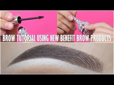 Eyebrow Tutorial (NEW Benefit Cosmetics Brow Products)