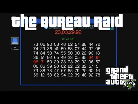 How to hack the server terminal the bureau raid gta v for Bureau raid crew