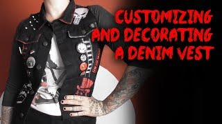 Customizing And Decorating A Denim Vest