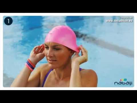 gorro de baño en silicona para natación piscina adulto niño. Cargando zoom. bb87709db54