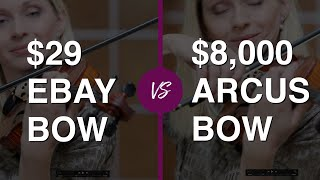 Violinist tries $ 29 eBay Violin Bow vs $ 8.000 Professional Bow