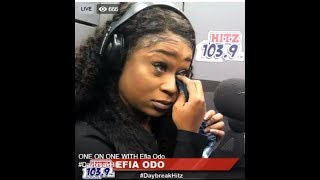 Efia Odo cries after Andy Dosty asks about her dad on Daybreak Hitz on Hitz FM