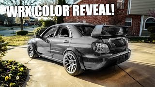 MY WRECKED WIDEBODY WRX IS HOME!! (color reveal)