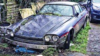 Barn Find Cars. Abandoned Jaguar XJS TWR, Datsun 260Z 2+2, P1 Allard, Mercedes-Benz 500SEC