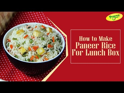 How to Make Paneer Rice For Lunch Box | Bharathi's Kitchen || YummyOne