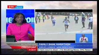 CheckPoint: Orum Lumbasi and Peres Chepchirchir are the winners of the Family Bank half marathon in