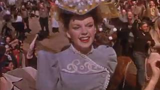 Judy Garland Karaoke - Atchison, Topeka and the Santa Fe, Part 2 with lyrics - Harvey Girls