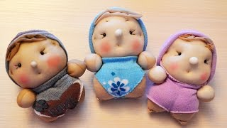 Куклы-пупсы из носков. ПОДАРОК . мастер класс. Dolls out of socks DIY