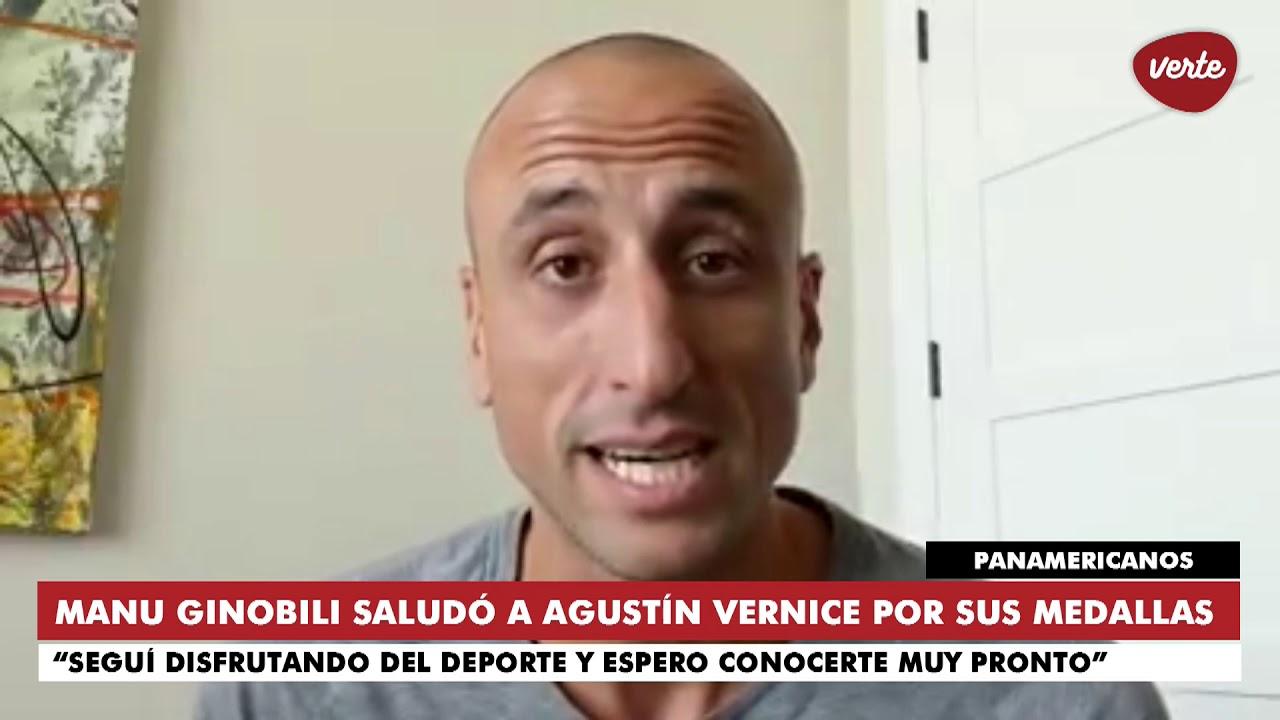 Ginobili felicitó a Agustín Vernice por sus medallas en Lima