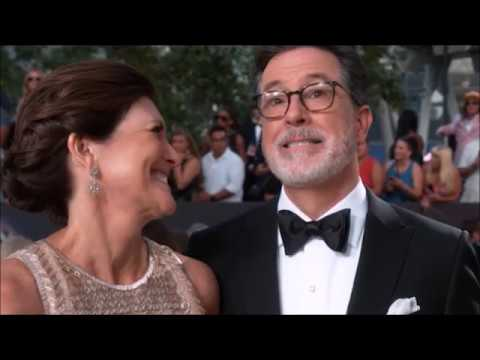 Stephen Colbert tells the story of meeting his wife and how he knew she was the one