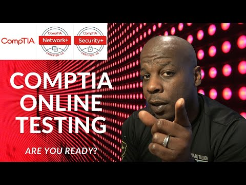 COMPTIA Certification: New online remote testing - YouTube