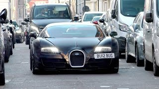 $2.5Million, 1200 HorsePower Mysterious looking BUGATTI VEYRON on the road in London!