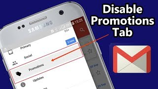 How to Disable Promotions Tab in Gmail Android App