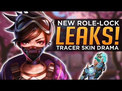 Overwatch: NEW Role Lock LEAKS! - Tracer Skin Drama