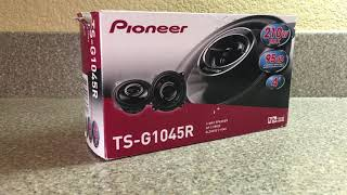 REVIEW/INSTALL: Pioneer TS-G1045R 4 inch speakers -- Installed into a Sprinter Van! LEGIT