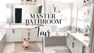 MASTER BATHROOM TOUR! / Affordable Bathroom Decor & Organization Tips!