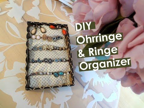 DIY Ohrring Aufbewahrung / Schmuck Organizer