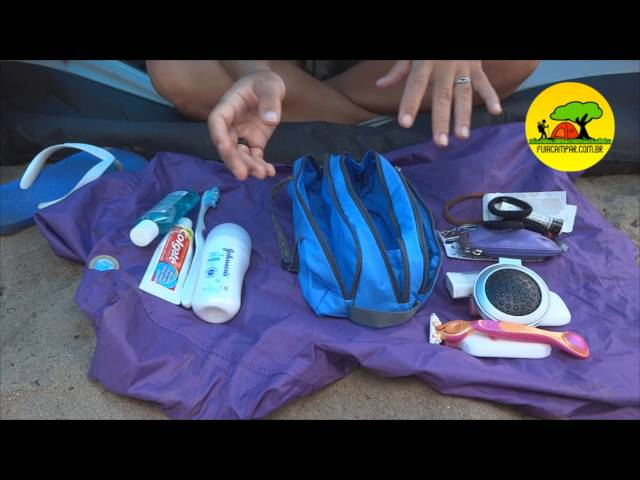 Видео Косметичка Deuter Wash Bag Tour II papaya-navy