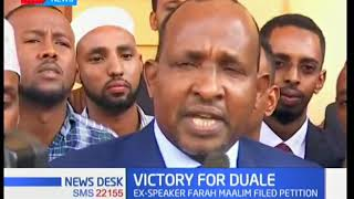 Court upholds Garissa Township MP Aden Duale's August 8, 2017 election win