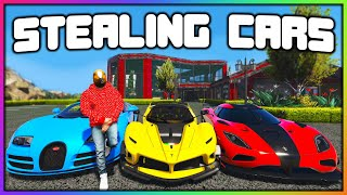GTA 5 Roleplay - STEALING EVERY CAR FROM REDLINE   RedlineRP