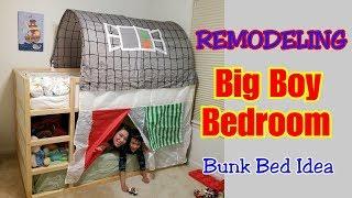 Remodeling Big Boy Bedroom! Bunk Bed Idea | INTON SHOW