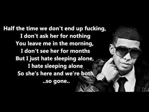 Hate Sleeping Alone - Drake // Lyrics On Screen [HD]