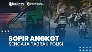 Kronologi Sopir Angkot Tabrak Polisi di Probolinggo, Berawal saat Pelaku Hindari Razia Yustisi