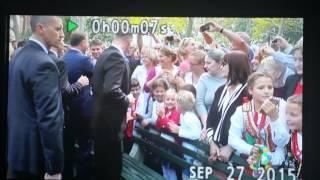 Prezydent Andrzej Duda w New York McGolrick Park na Greenpoincie
