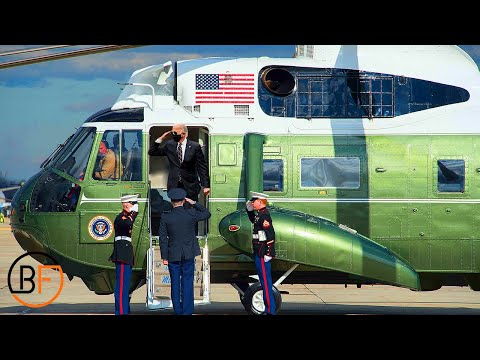 Inside Marine One Carrying the President of the United States