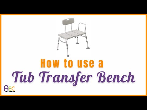 How to use a Bath Tub Transfer Bench Here are some good tips on how to use a tub transfer bench