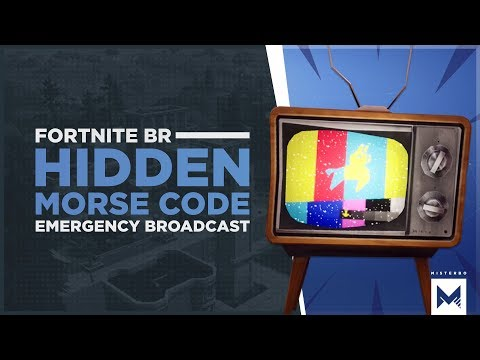 Fortnite Battle Royale: Llama Emergency Broadcast Tease With Hidden Morse Code Message Decoded!