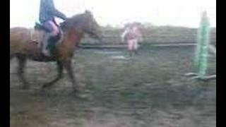 Christina jumping Alfred