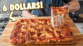 Giant Homemade Pizza For 6 Dollars | But Cheaper