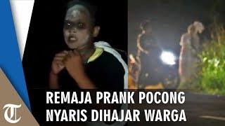 Viral Remaja Ditangkap Warga karena Prank Pocong di Jalan: Ampun Mas, Ini Sudah Dicopotin