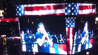 John Barrowman sings National Anthem at Lakers vs Spurs Game