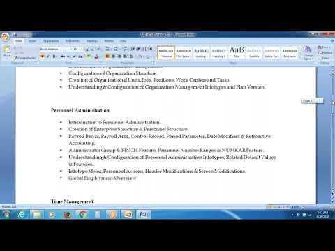 SAP HR TUTORIAL FOR BEGINNERS - YouTube