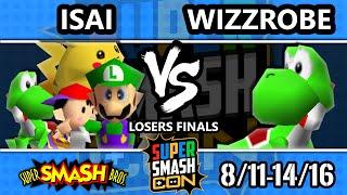 SSC 2016 Smash 64 - Isai (Luigi, Ness, Yoshi, Pikachu) Vs. Wizzrobe (Yoshi) - SSB64 Losers Finals - dooclip.me