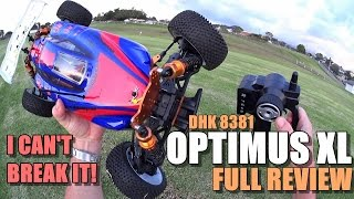 DHK 8381 OPTIMUS XL 1:8 Scale 4X4 Review - [Unboxing, Inspection, Run/Launch Test!, Pros & Cons]
